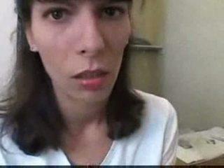 Euro jovem grávida a foder em casa de banho vídeo