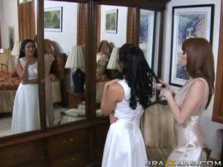 brunette, bride, store pupper