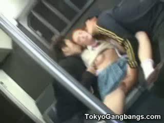 Babe putih gadis di tokyo subway!