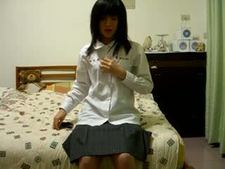 Волохата китаянка дівчина на камера відео