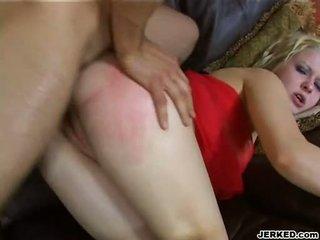 Hot Golden Haired Aaralyn Barra Receives Her Tight Ass Rammed Hard