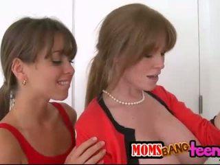 Riley Reid and stepmom Darla Crane 3some