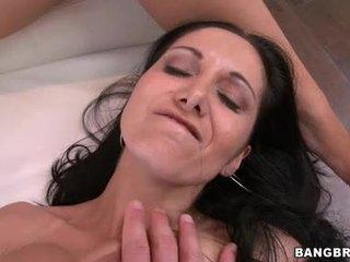 bruneta, skupinový, veľké prsia