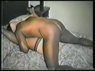 Doux blonde femme gets victimized par noir bite vidéo