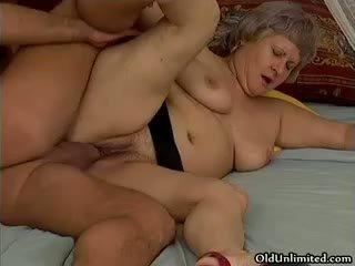 granny, blowjob, cumshot