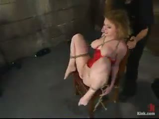Shagging A Tattooed Submissive Blonde In Constrained Mov