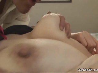 اليابانية جبهة مورو gets fingered و مارس الجنس uncensored