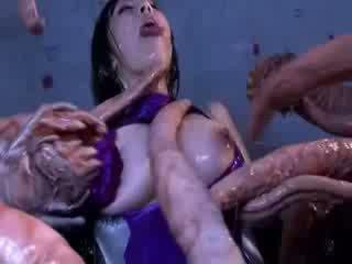 Con quái vật tentacles jizzing to người ngu phương đông khiêu dâm attacker tất cả các thân thể