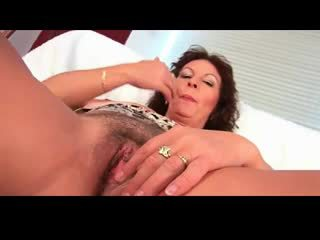 Busty Hairy Mature Alma BVR