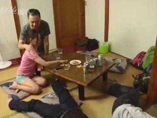 japonés, paliza, intercambio