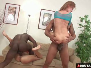 Brutalclips - Monster Cocks Rip Both Her Holes: HD Porn bc