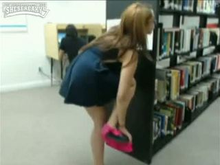 Teen caught masturbating library xxx halle