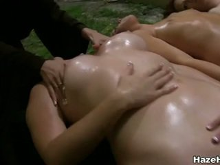 Lovely ladies hazed & forced to do lesbian sex