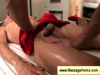 Troy Michaels gets touched during a masaage