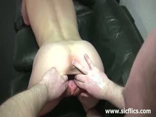 Shocking Skinny Teen Fist Fucked By A Fat Old Pervert