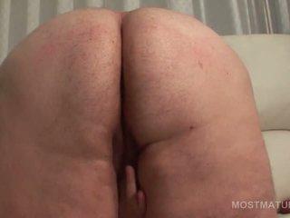 Bitchy fat mature lady masturbating pu...