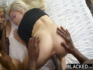 Blacked primeiro inter-racial sexo a quatro para elsa jean e zoey monroe