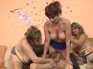 Três mulheres caralho com um guy