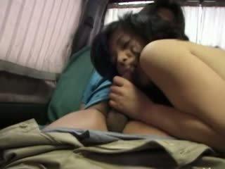 Poraščeni korejsko punca having holes toyed