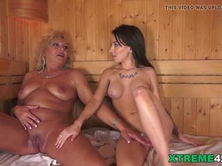 Lezbiýanka moments in the sauna, mugt grandpas fuck teens hd porno