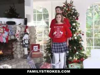 Familystrokes - jebanie môj step-sis počas holiday vianoce pics video