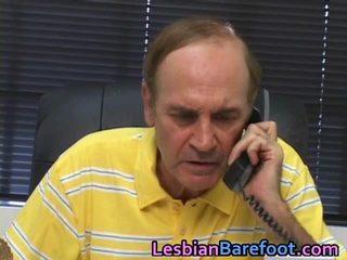 Giovane lesbica has sleaze fica e stronzo tunnel