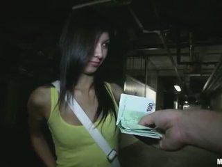 Pequeñita facultad chica stuffed para dinero