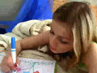 amateur teen, bedroom, pantyhose