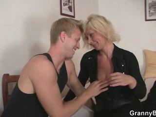fun blondes film, real grandma, moms and boys sex