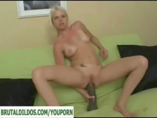 gaping, huge dildo