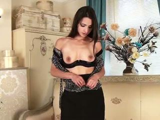 brunette, orgasme, masturber
