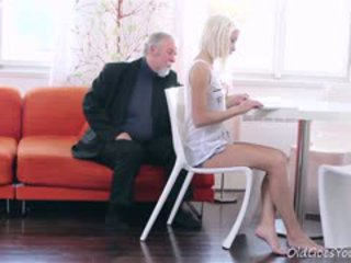 blowjob, old+young, blonde