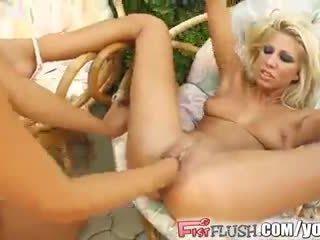 Fist Flush hot lesbians fist their pussies