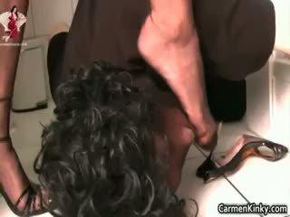 brunette, anal, femdom