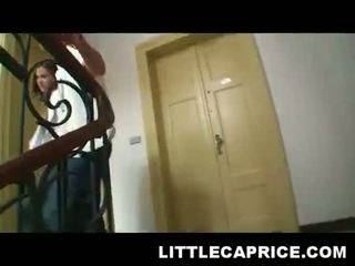 Little Caprice Hooks Up With Some Guy At.