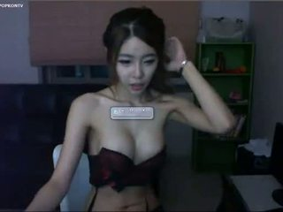 webbkameran, mager, koreansk