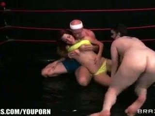 শ্যামাঙ্গিনী, বিগ boobs, তেল