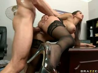 grote tieten, kantoor, office sex