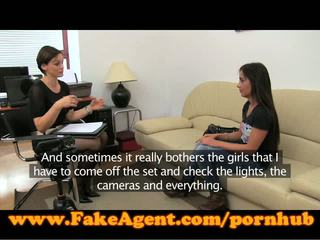 FakeAgent Tanned teen gets spunked on