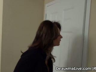 Pieauguša mammīte deauxma izsaukums lesbiete eskorts līdz nākt jāšanās viņai!
