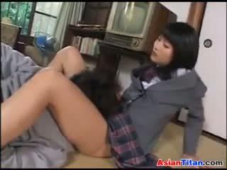 Asia pelajar putri dan dia male budak