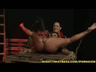 Euro lesbian BDSM pussy & anal fisting