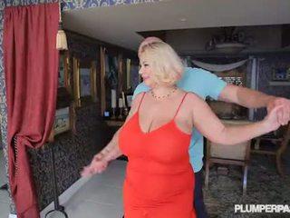 Buah dada besar gadis nakal milf samantha 38g fucks akademi dance instructor
