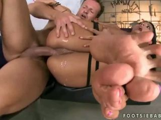 Erica Fontes foot massage and sex