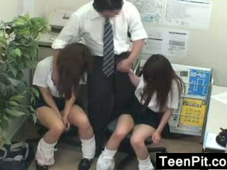 Japanese Schoolgirls Get Black Mailed