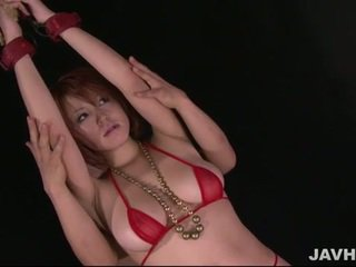 Busty japanese babe toyed