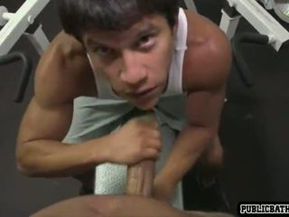 muscle, blowjob, latino