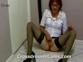 crossdresser, culo, crossdressing