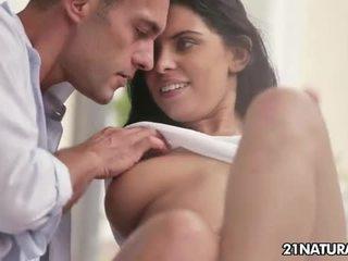 kyssing, kaukasisk, hetero