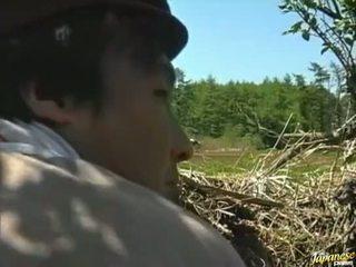 Asiatique fille baisée en la domaine vidéo
